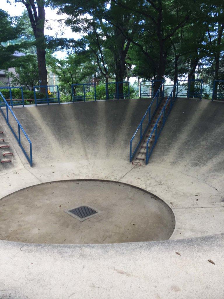 交通公園の滑り台