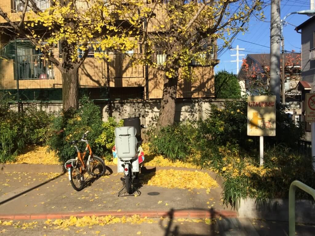 高円寺南公園の自転車置き場