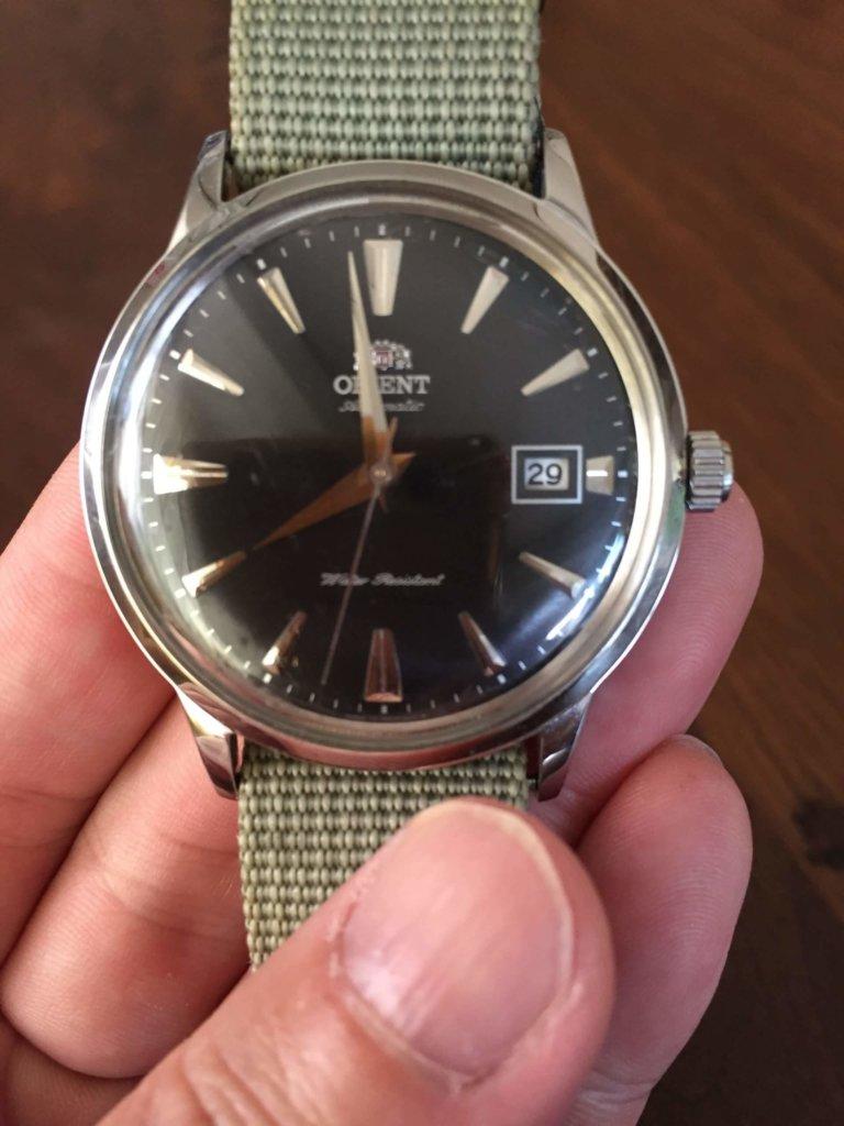 オリエント時計バンビーノの全体画像