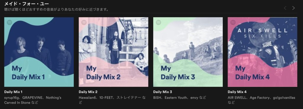Spotifyのプレイリスト作成機能