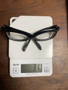 メガネ重さ